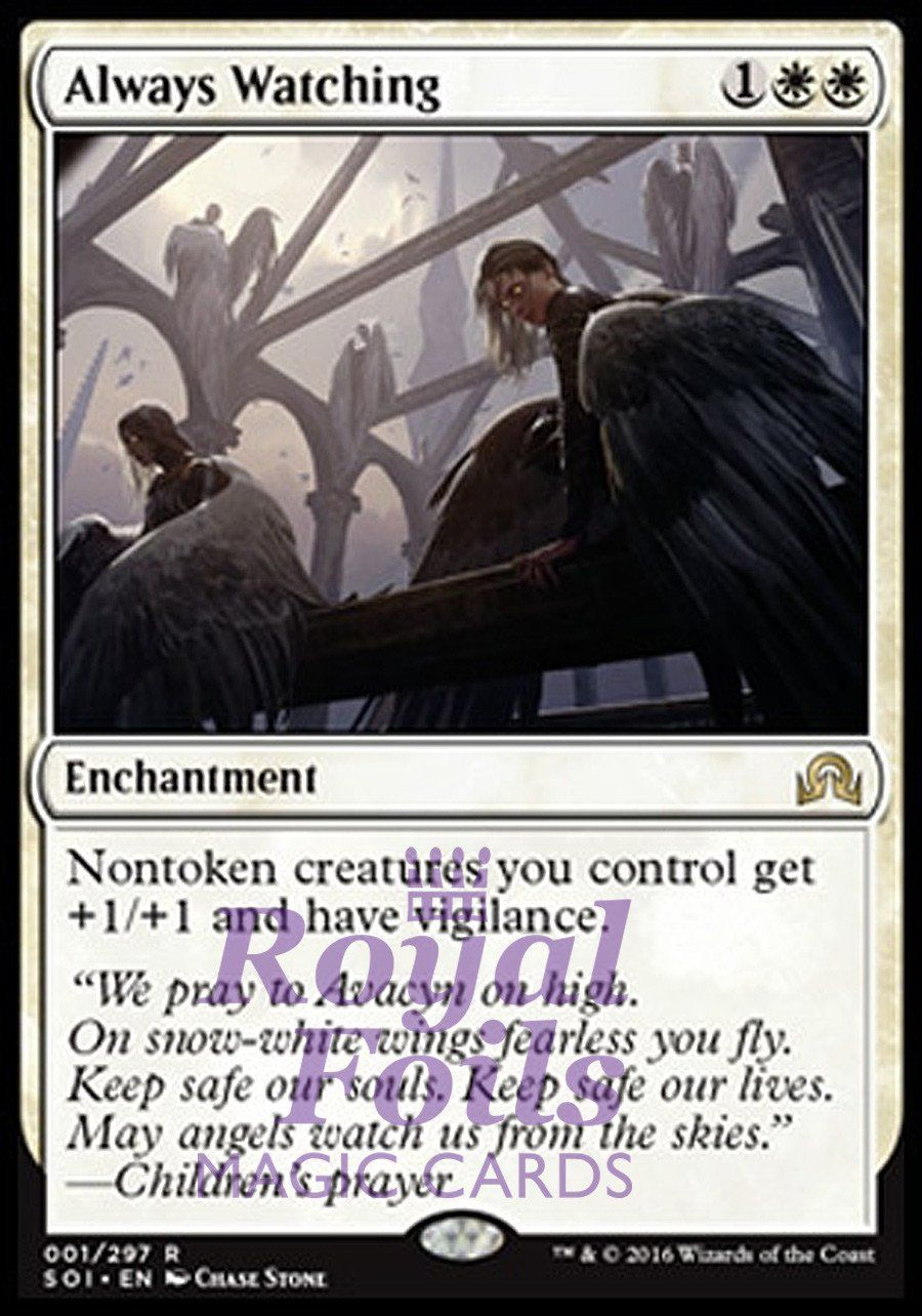 FOIL ALWAYS WATCHING Shadows Over Innistrad SOI Magic MTG MINT CARD