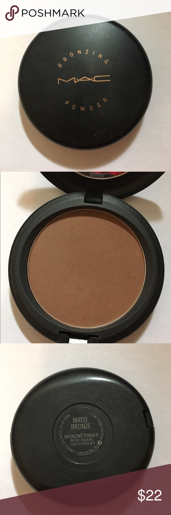 MAC bronzer Matte Bronze Slightly used. Awesome contour