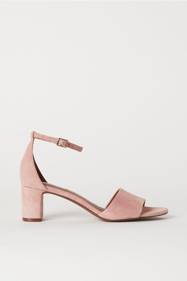 Suede sandals - Powder pink - Ladies