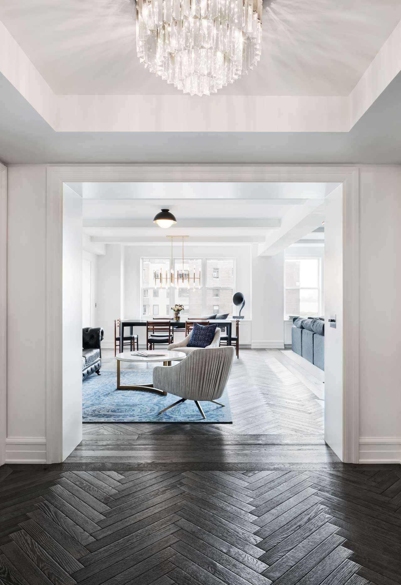 A Classic 7 Pre War Apartment In Nyc Is Renovated By Studiolab Renovation Apartment Decor Home Remodeling Contractors