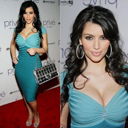 Kim Kardashian Crystal Colorblock Bandage Dress http://www ...