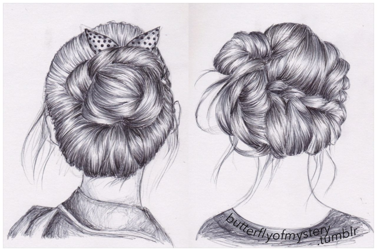 Fine 1000 Images About Hairstyle Drawing On Pinterest Hairstyles Short Hairstyles Gunalazisus