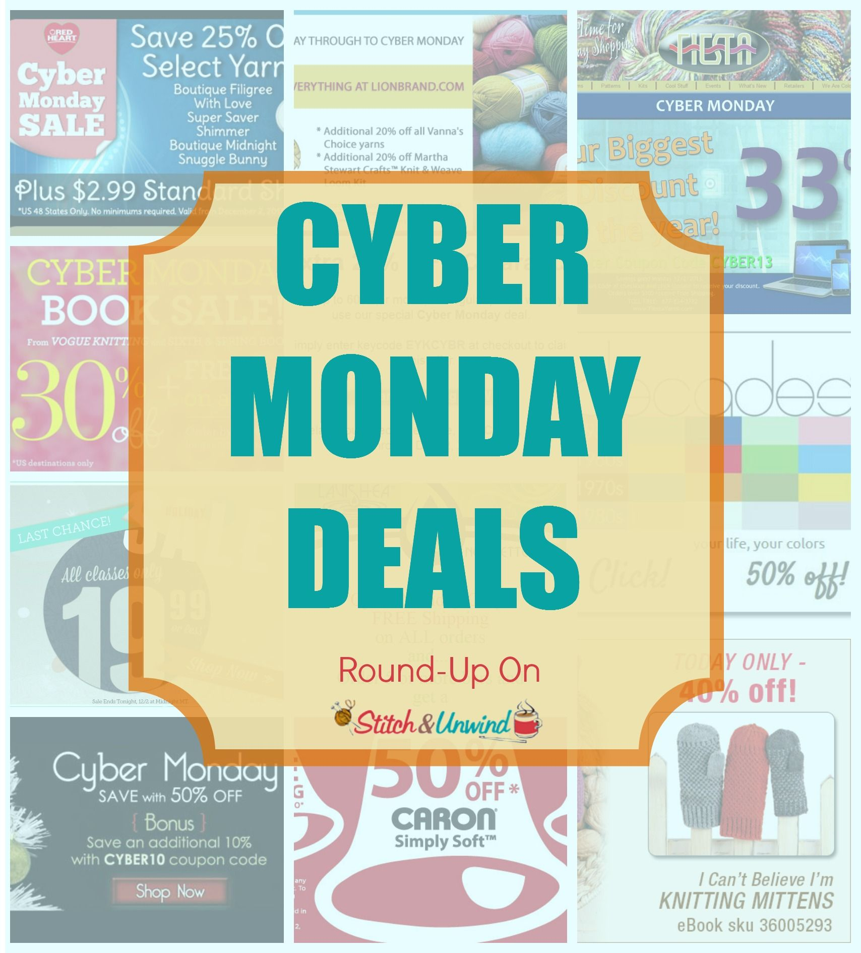 Check out this round-up of #CyberMonday Yarn Deals!