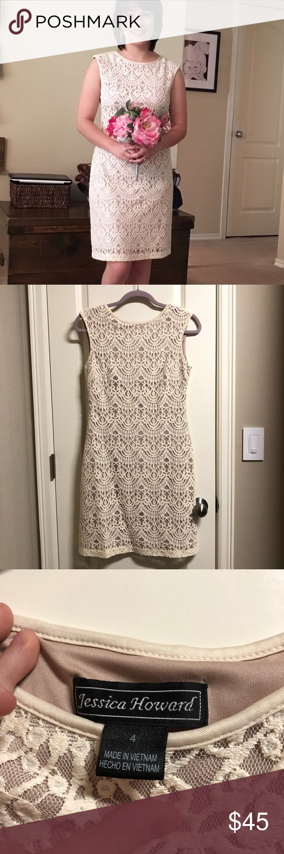 Jessica Howard Ivory Lace Dress Jessica Howard Beautiful