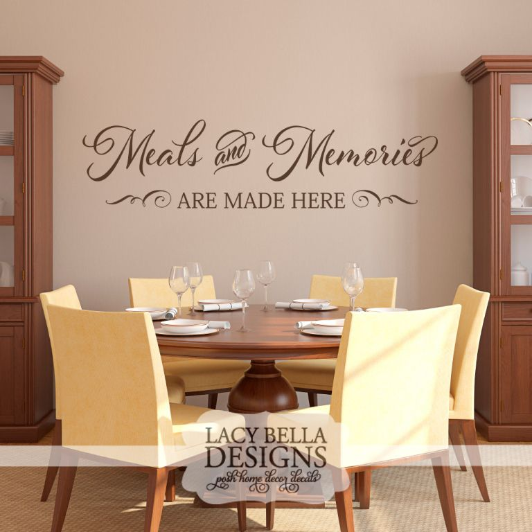 """""""Meals And Memories Are Made Here"""" This Simple And Sentimental Kitchen Wall Decal Quote Can Add"""