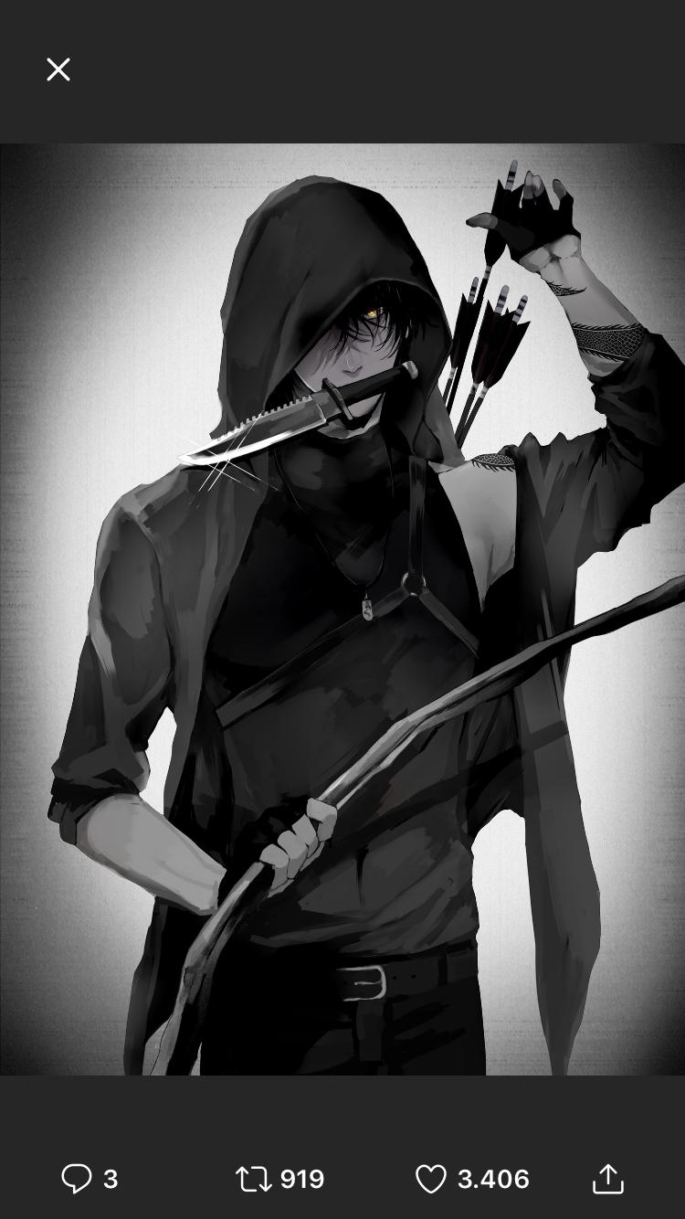 Anime boy Dark anime guys, Anime ninja