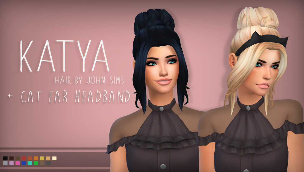 John Sims Katya Hair A Simple Updo For Your Sims And A Cat
