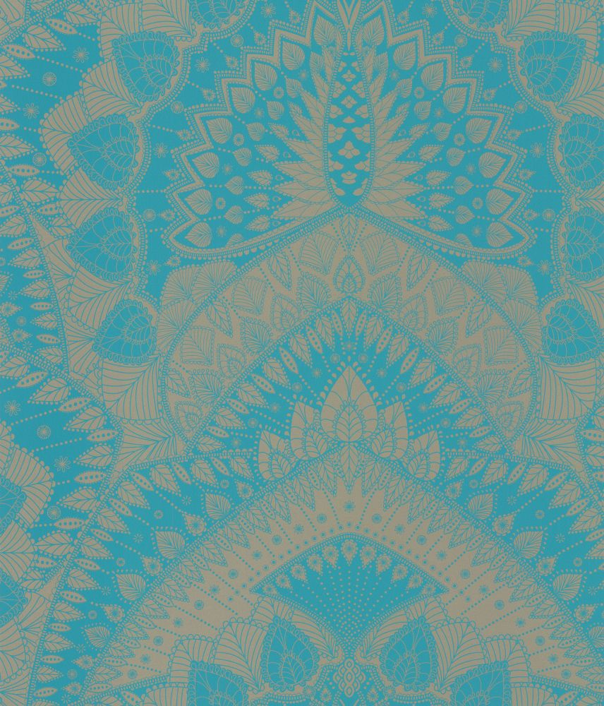 Azari Turquoise / Gold wallpaper by Matthew Williamson   If the ...