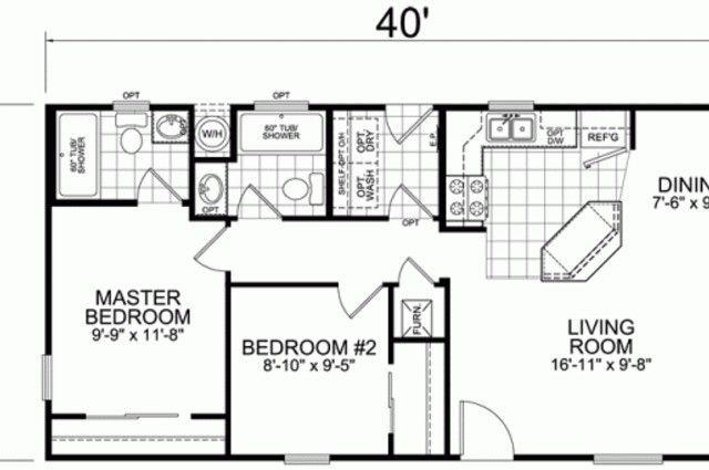 16x40 Floor Plans Luxury 12 Tiny House Floor Plans 16 X 40 2 Bedroom Bath Mobile Home Floor In 2020 Small Floor Plans Tiny House Floor Plans Tiny House Layout