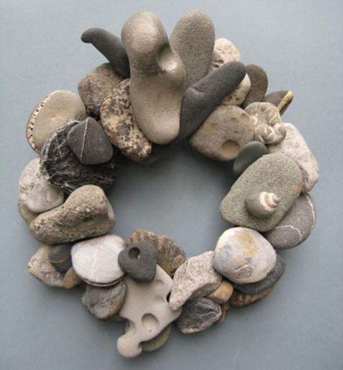 beach stone wreath