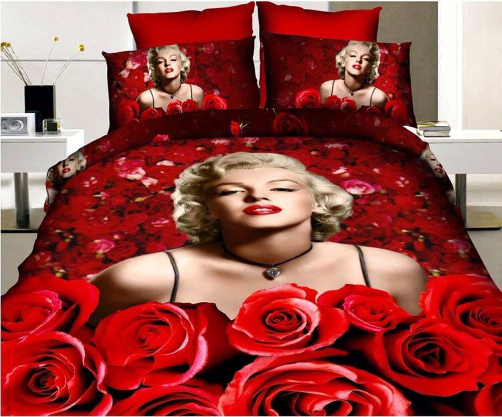 Lenzuola Matrimoniali Marilyn Monroe.Marilyn Monroe Bedroom Set Biancheria Camera Camera Da Letto
