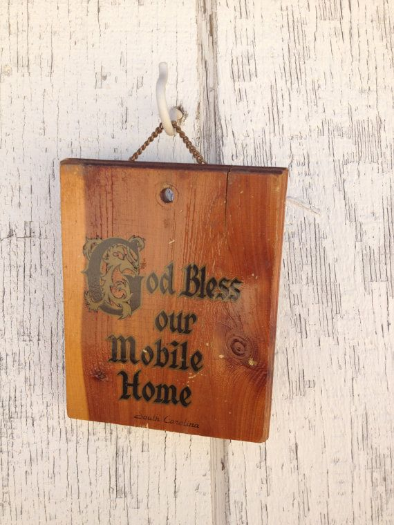 God Bless our Mobile Home Wall Hanging