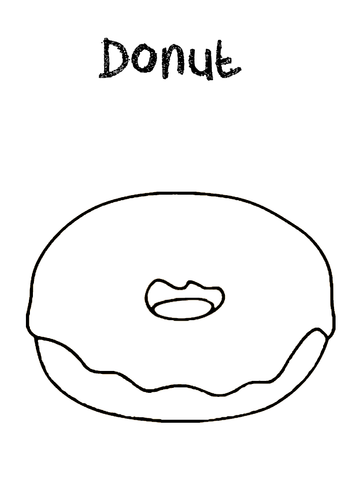 Round Donut Coloring Pages June Father S Day Donut Coloring