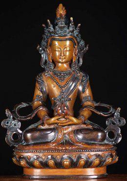 Tibet Buddhism Tibet Silver Sakyamuni Amitabha Dharmapala Buddha Statue