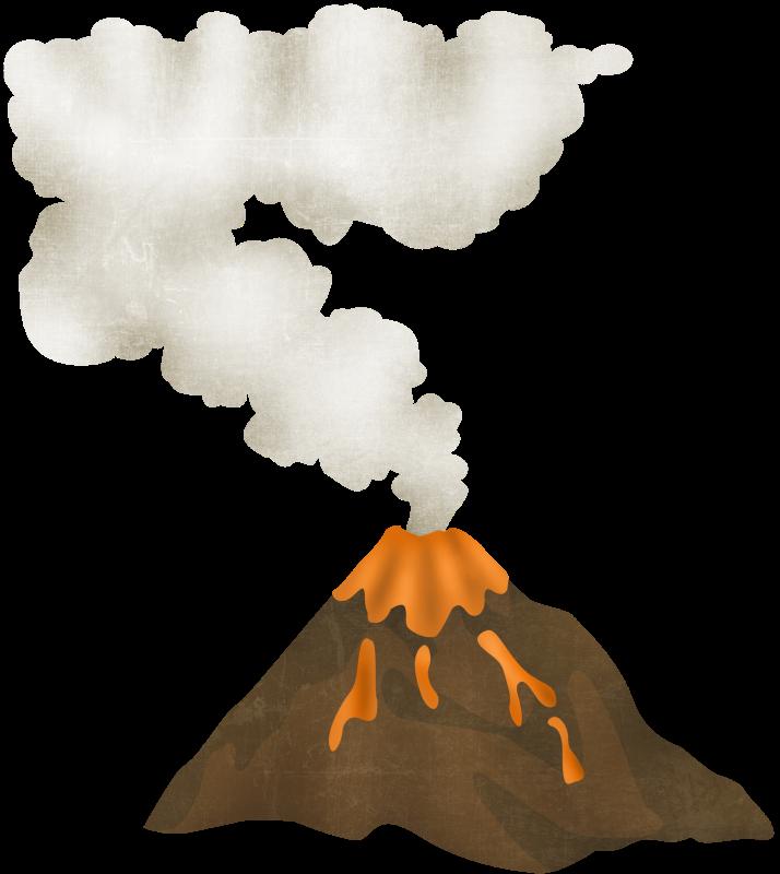 Вулкан для детей в картинках