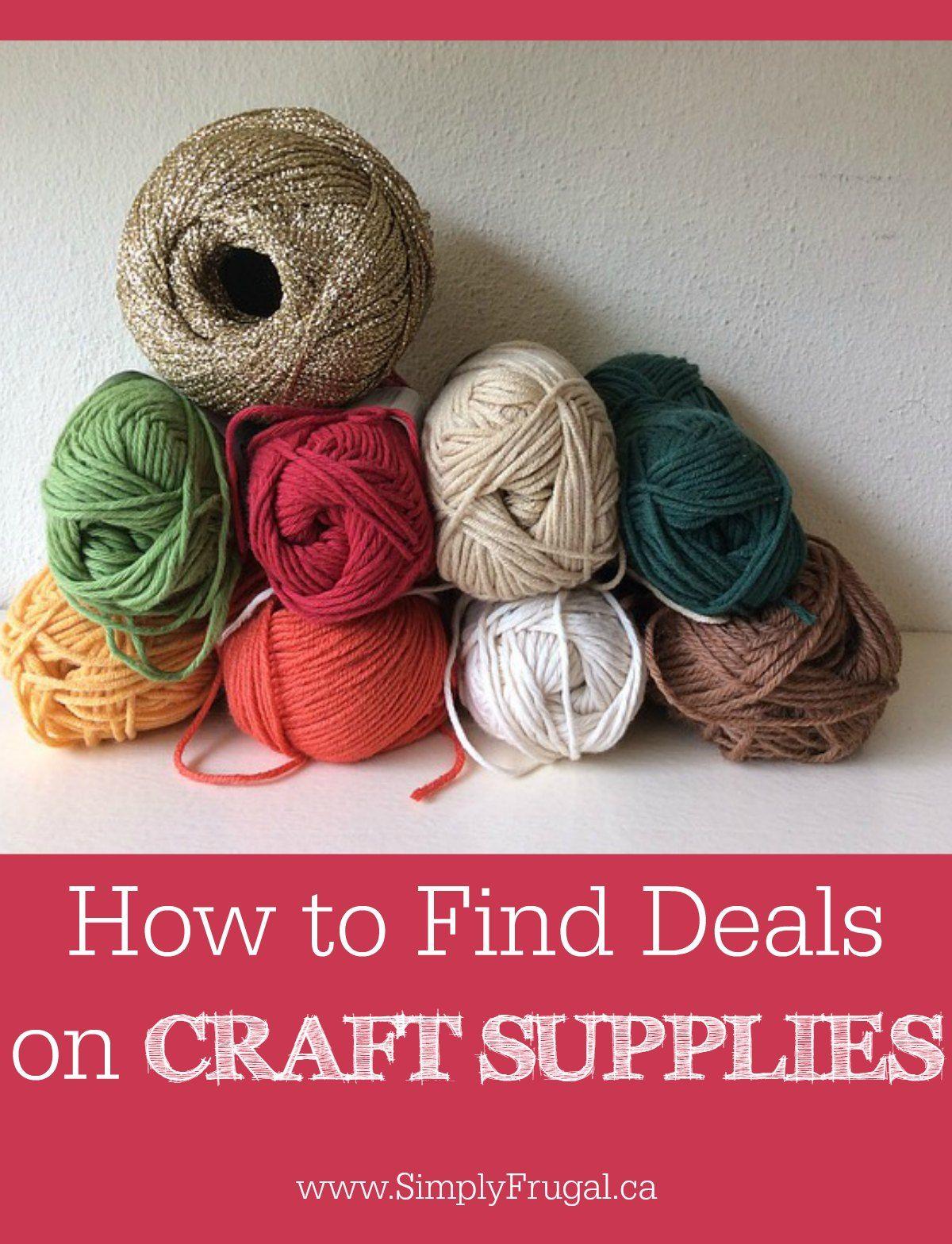 How To Find Deals On Craft Supplies Craft Supplies Crafts Bulk