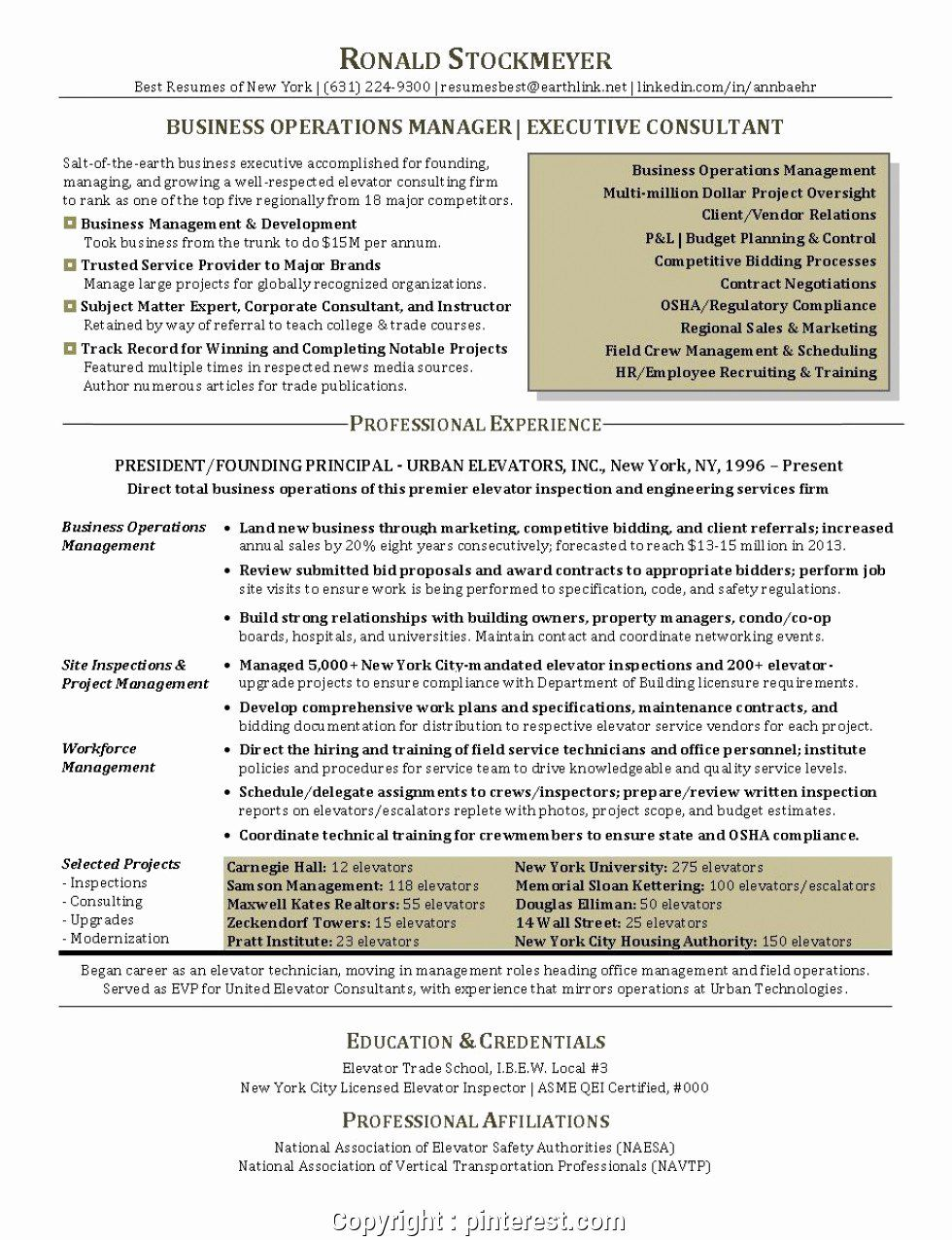 25 Business Operations Manager Resume Operations