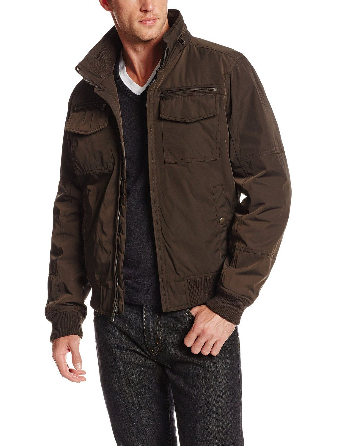 41255bfd8 $78.99 - Tommy Hilfiger Men's Poly-Twill Performance Bomber Jacket ...
