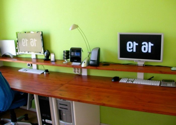 diy solid wood computer desk ideas httplanewstalkcomdiy - Homemade Wooden Desk Designs