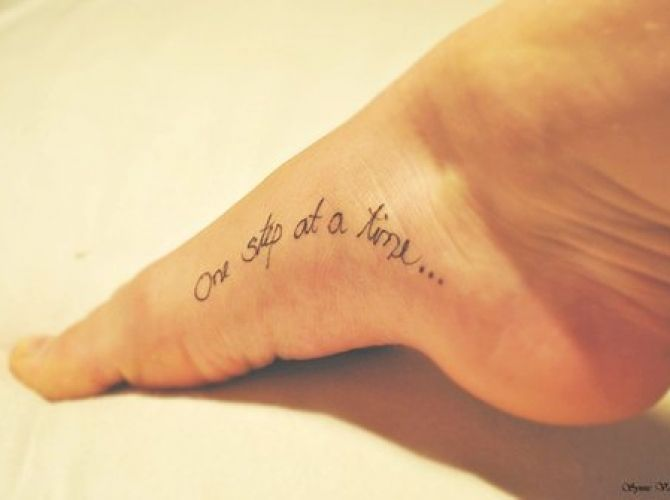 Small Black Foot Quote Tattoos For Girls Tattoos I Small Foot