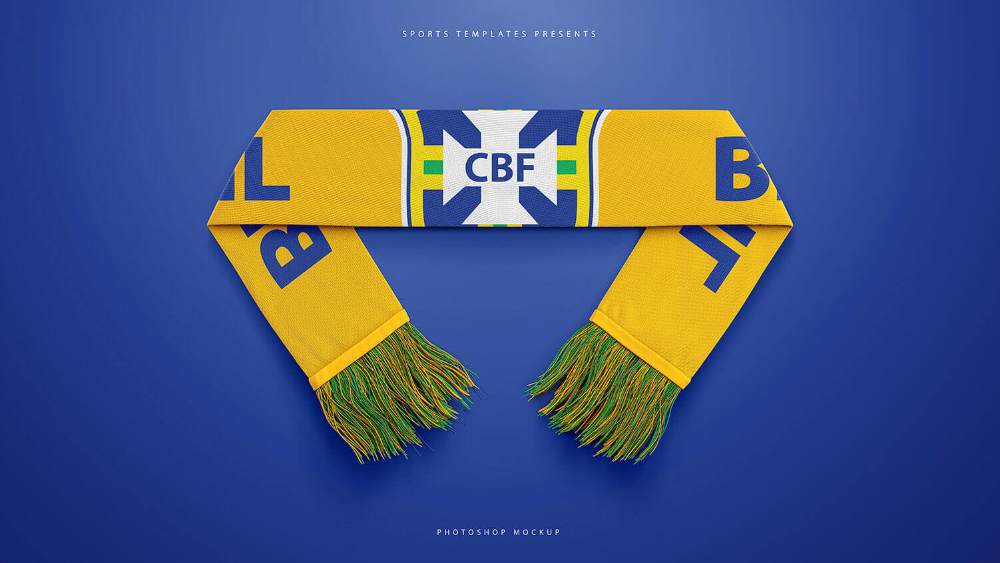 Download Football Sports Scarf Mockup Pack Sports Templates Sports Templates Mockup Scarf Design