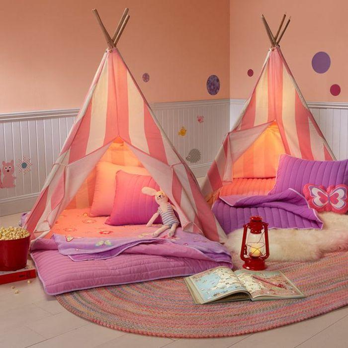 kokette-Kinderzimmer-Gestaltung-für-Mädchen-tipi-zelte-grelle-süße ...