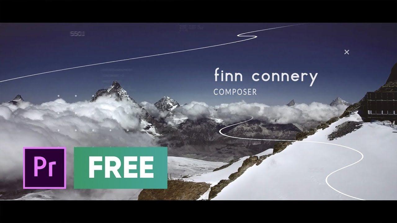 Free Premiere Pro Template Cinematic Slideshow Free Modern Slideshow Premierepro Refreim In 2021 Premiere Pro Book Design Adobe Premiere Pro