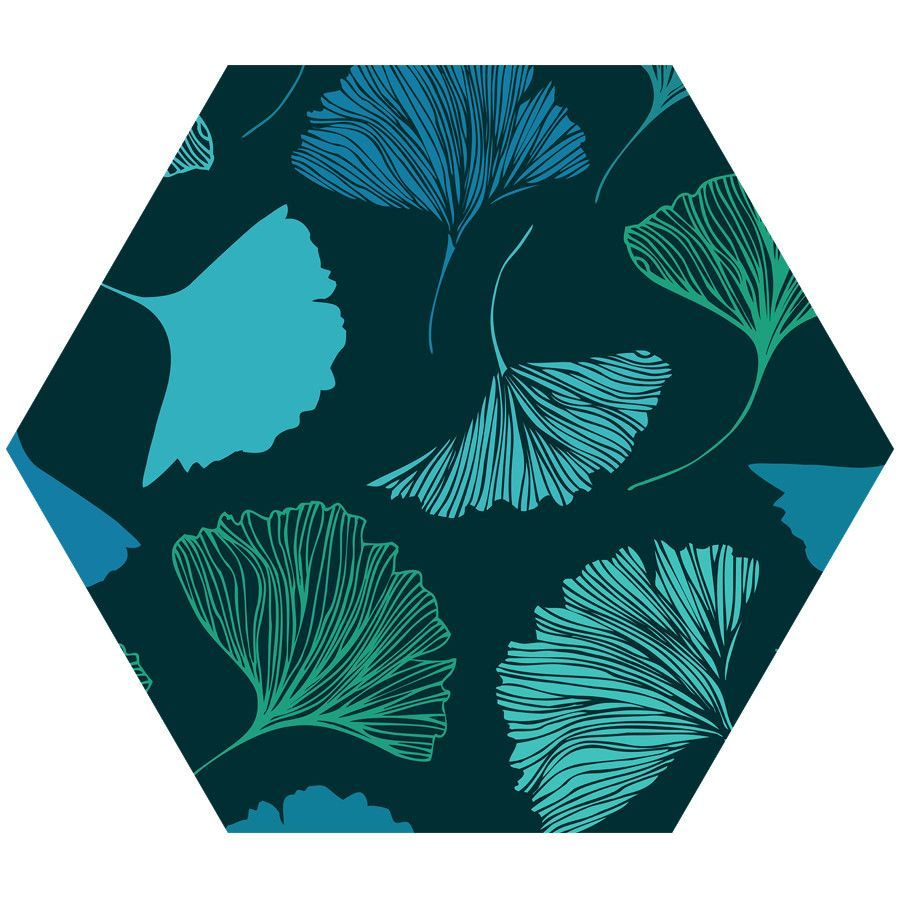 Magic Ginkgo Hex Wall Decal