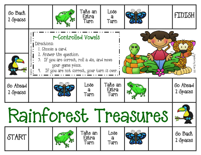 Rainforest homework sheets
