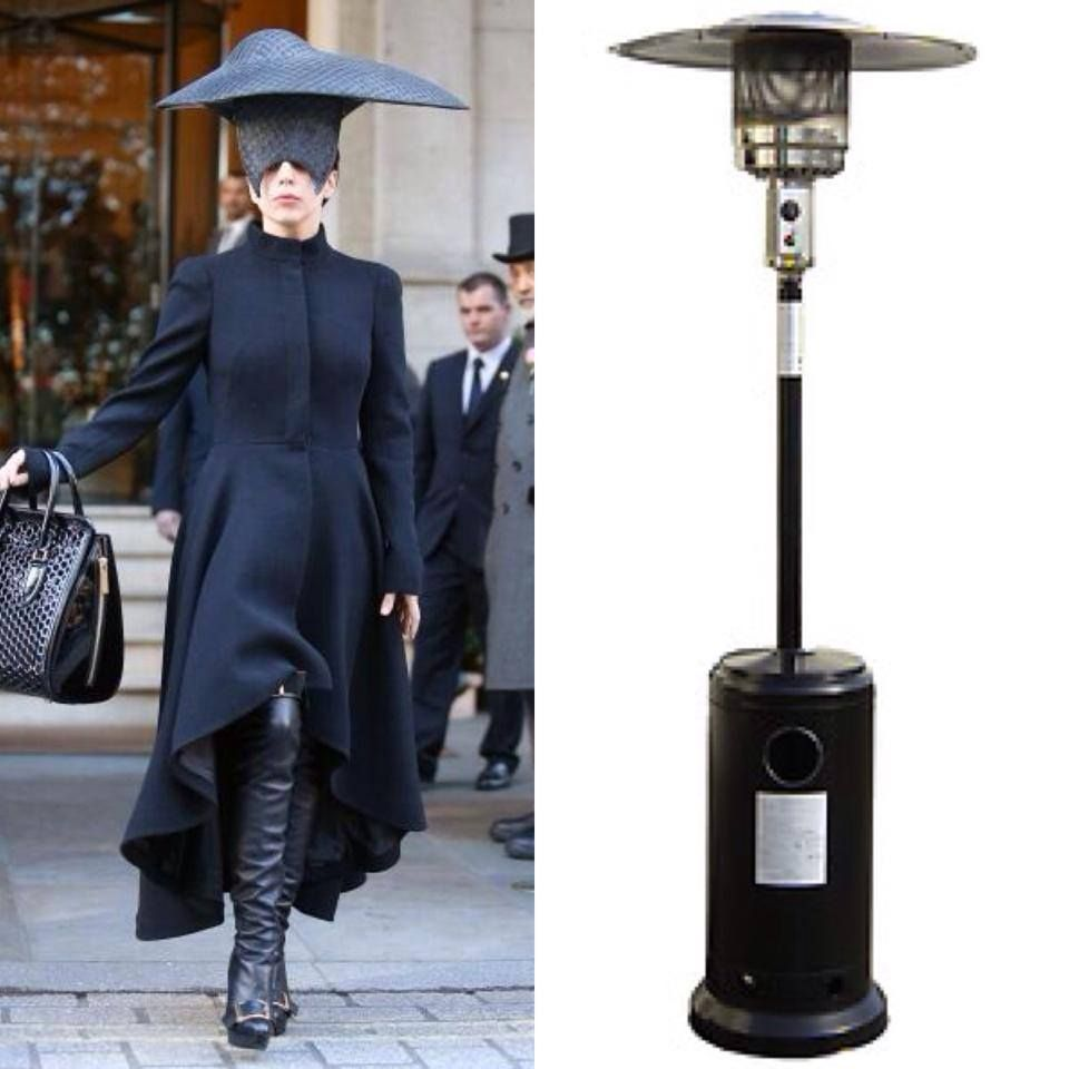 Who Wore It Better Lady Gaga or Outdoor Heat Lamp Hilarious