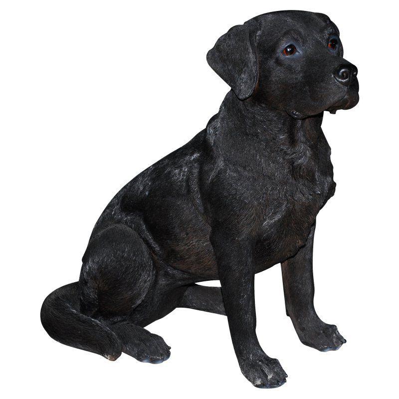 Vivid Arts Black Labrador Statue, Size: Small