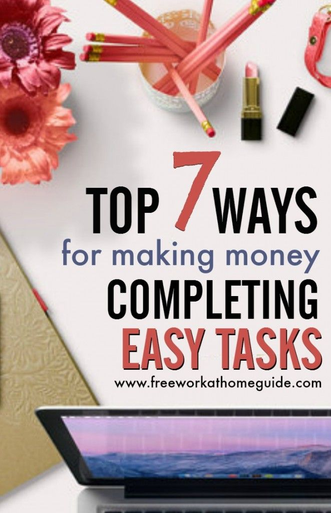 Top Short Task Sites for Making Money Online from Home | Extra cash ...
