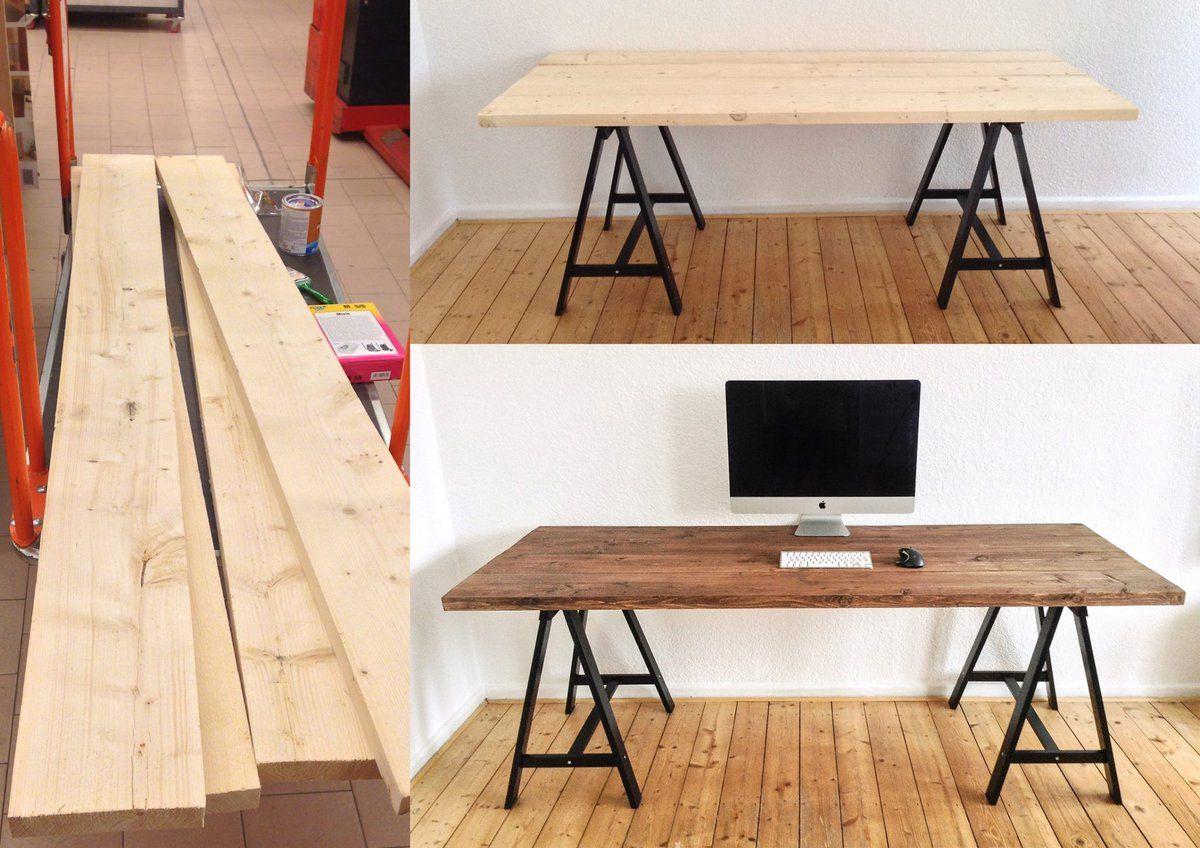 Diy schreibtisch wohnen bureau mobilier de salon