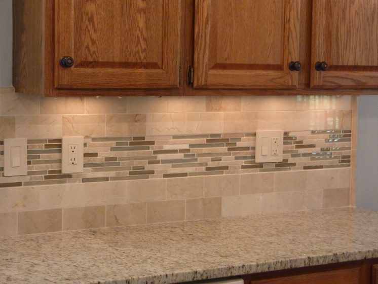 Wondrous Brown Ceramic Kitchen Back Splash Mixed Match Sticks Tile
