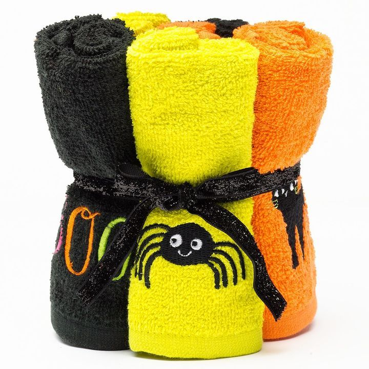 Halloween 6-pk Washcloths Halloween Decorating Ideas  Recipes
