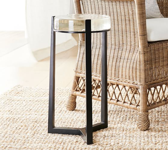 Cori Glass Accent Side Table Pottery Barn In 2020 Glass Accent Tables Accent Side Table Accent Table