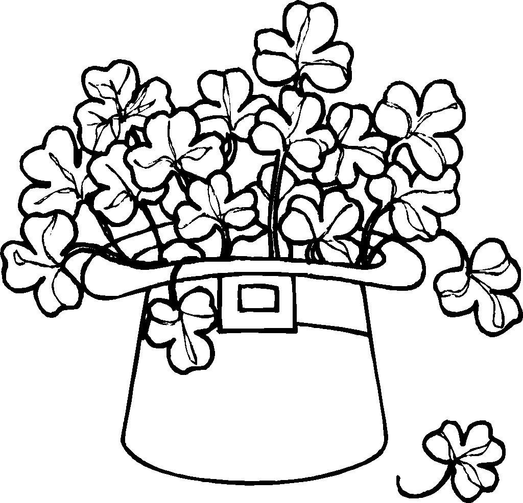 Shamrock Coloring Page | Flower Coloring Page | Pinterest