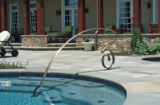 Decorative Pool Handrail From Houzz Http Www Houzz Com Au Photos 2655706 Rails Traditional Pool Chicago Pool Rails Backyard Pool Inground Pools
