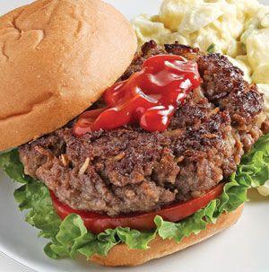 Best Ever Juicy Burgers Recipe Juicy Burger Recipe Juicy Hamburgers Hellmans Recipes