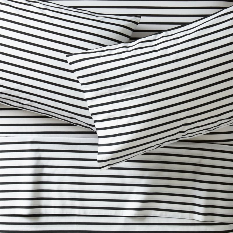 Black And White Stripe Sheets Crate And Barrel Black And White Sheets Striped Sheets Kids Sheet Sets