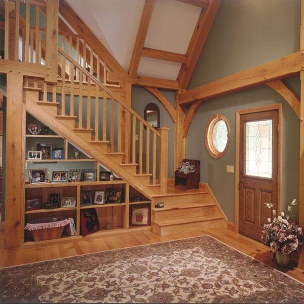 ideen stauraum unter der treppe flur regale | holzige ideen, Wohnideen design