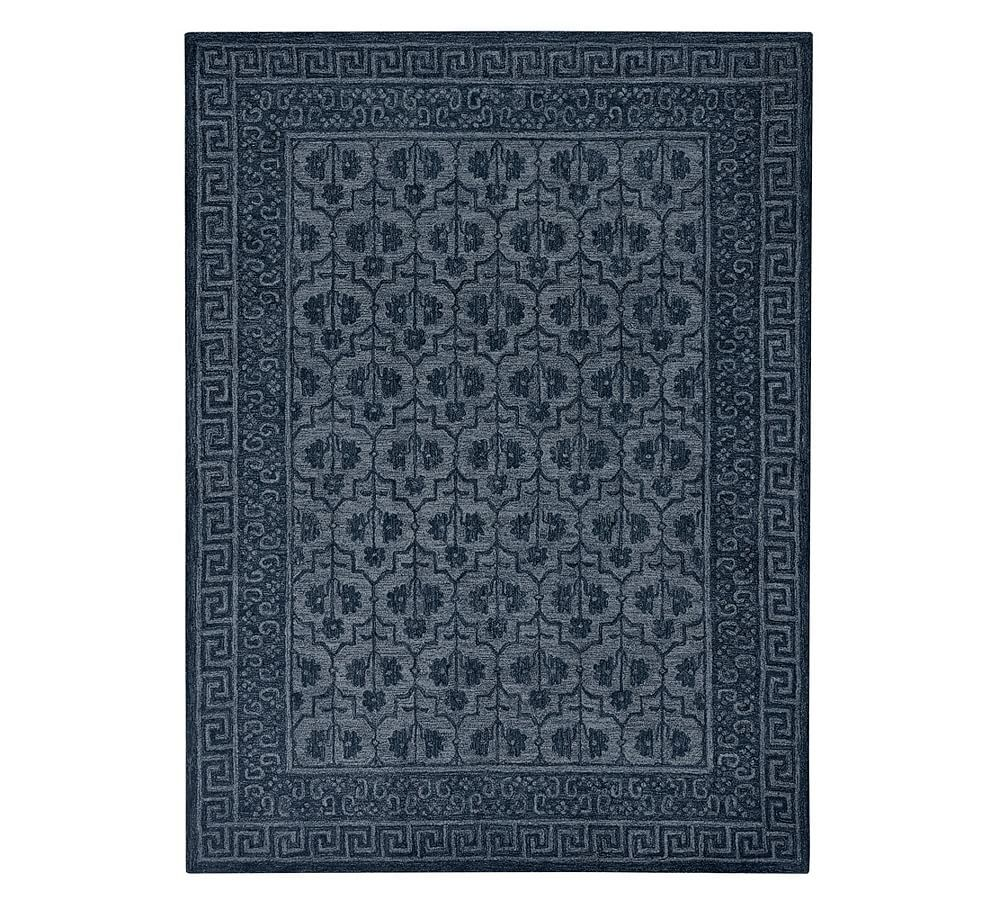 Braylin Hand Tufted Wool Rug Blue Pottery Barn Rugs Rugs In Living Room Rugs On Carpet