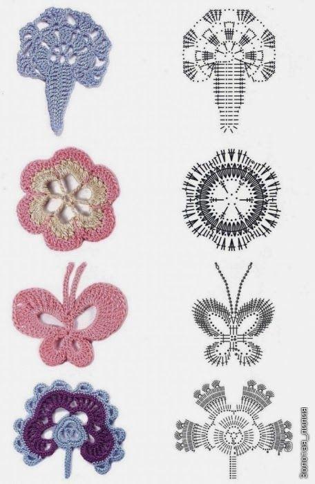 croche: Irish lace pattern | Crochet Motivos | Pinterest | Encaje ...
