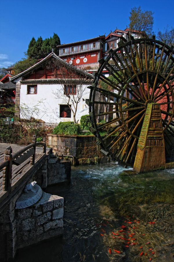 Water Wheel, Lijiang, China