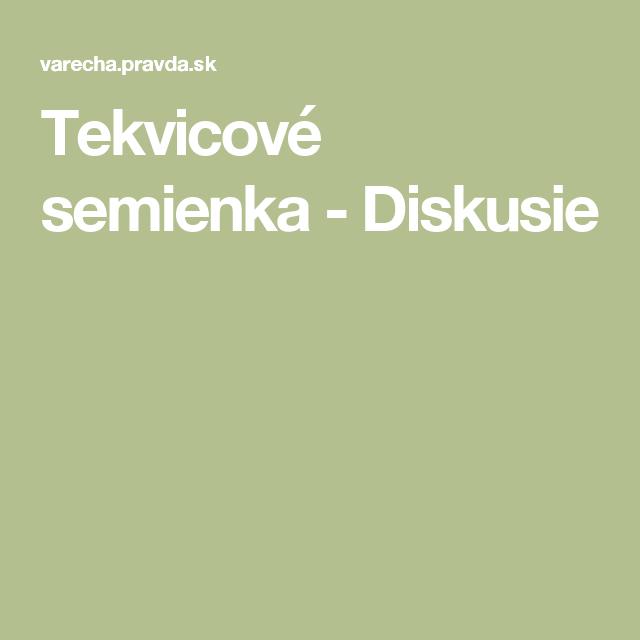 Tekvicové  semienka  - Diskusie