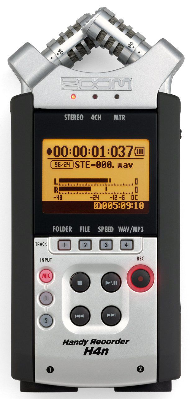 Zoom H4n Portable Digital Audio Recorder W Adjustable Mics And Built In Speaker Audio Digital Audio Cool Things To Buy