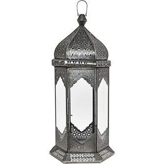 48cm Silver Tone Lantern
