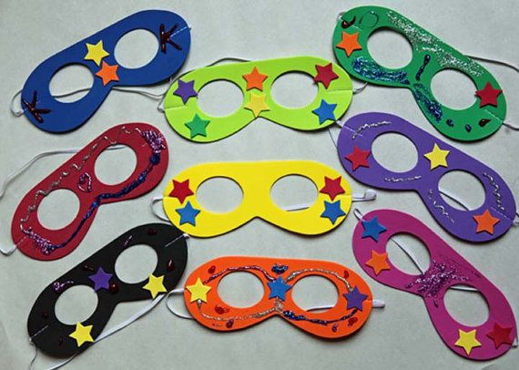 Superhero Masks To Decorate Set Of 10 Diy Mask Decorating Kit Great Partyfunkidzstuff