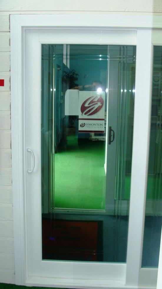 Simonton Sliding Door With Optional V Grove Glass Sliding Doors Doors Glass