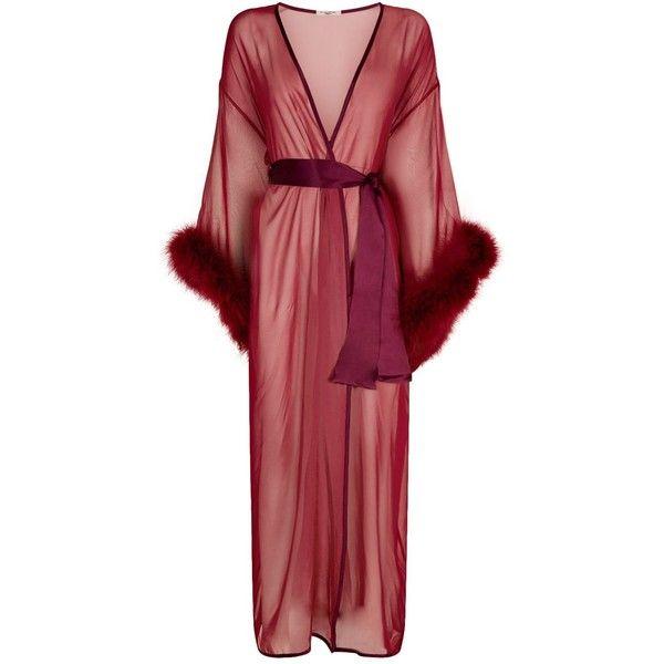 Gilda Pearl Fur Trim Long Robe 875 Liked On Polyvore
